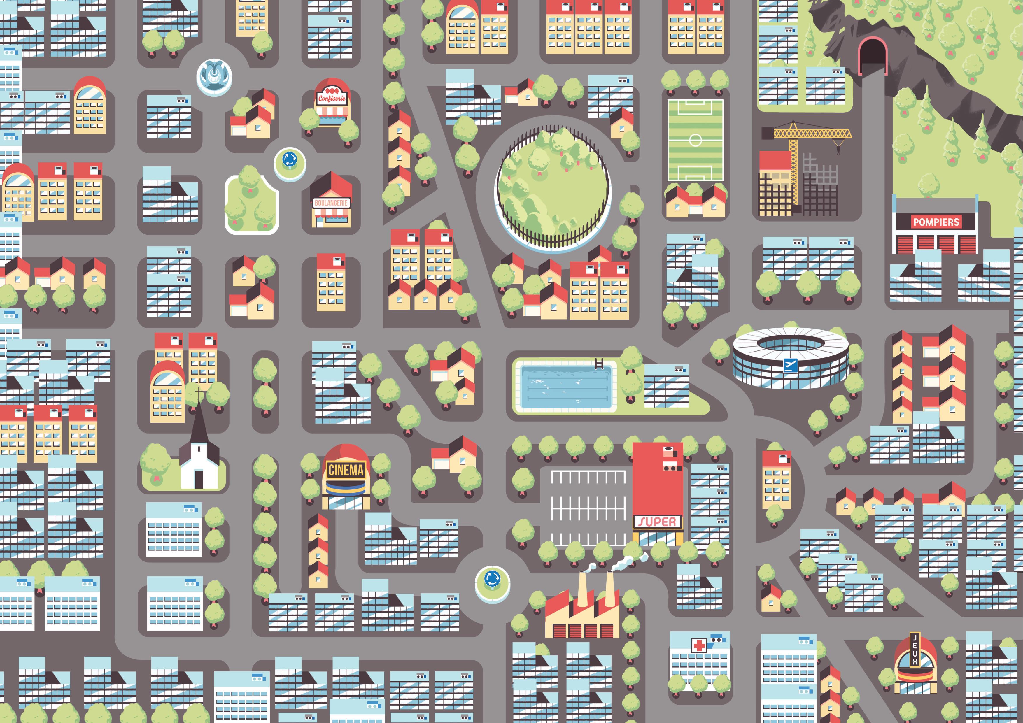 La carte de la ville