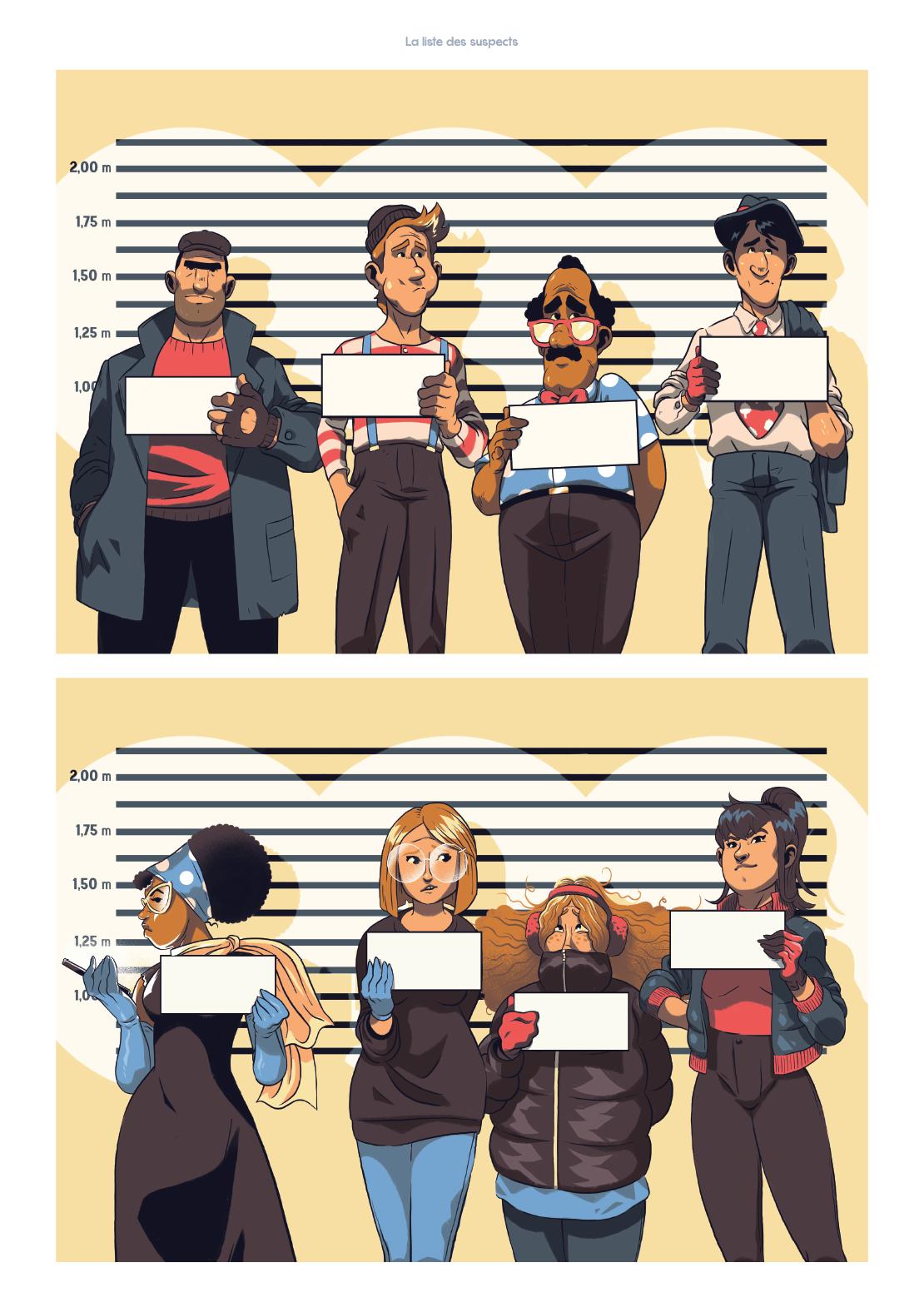 Illustration des suspects