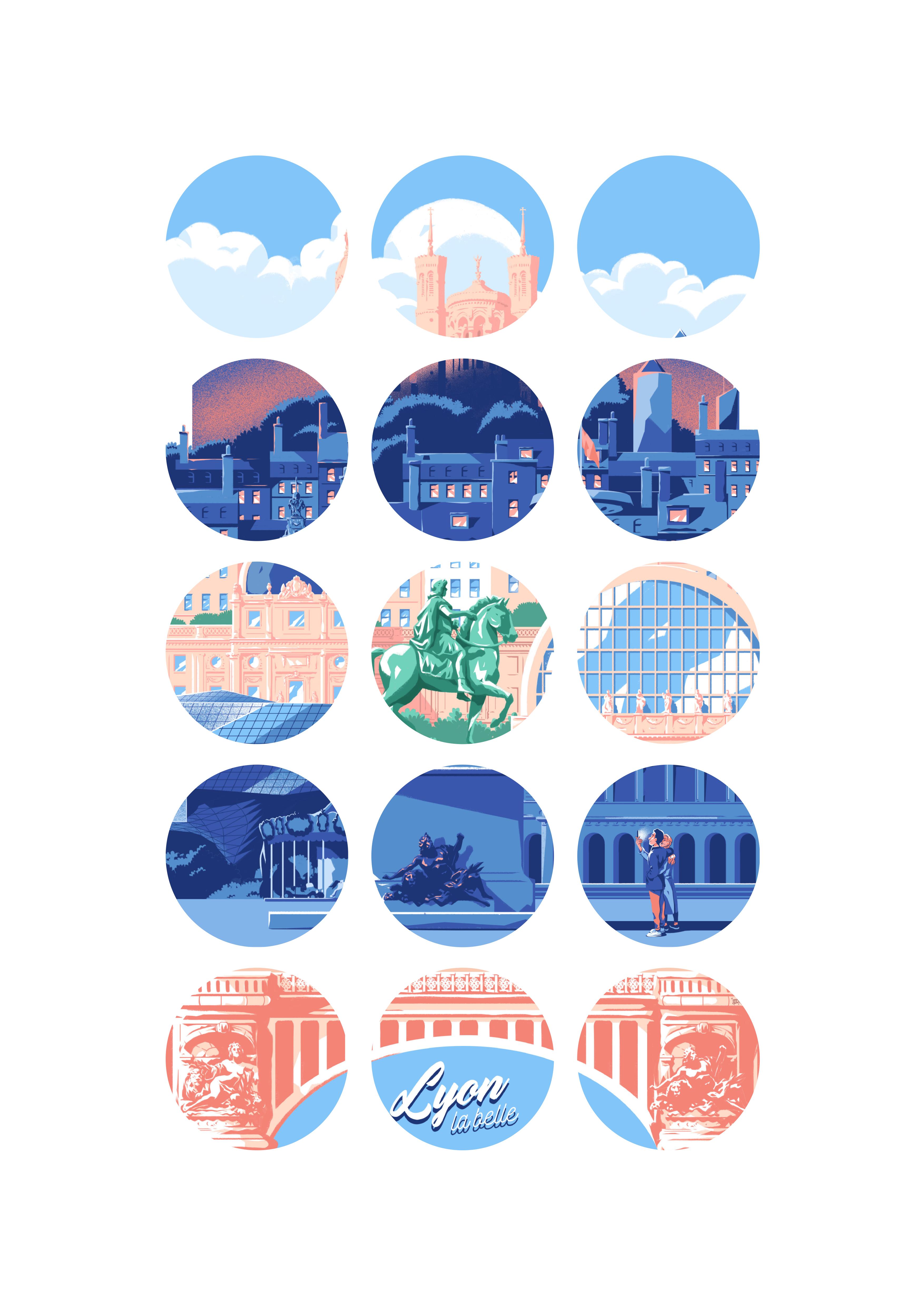 Lyon la belle, zoom illustration